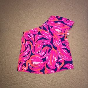 NWT Lilly Pulitzer one shoulder top, size S